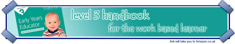 Handbook support for work based learners undertaking level 3 Early Years Educator