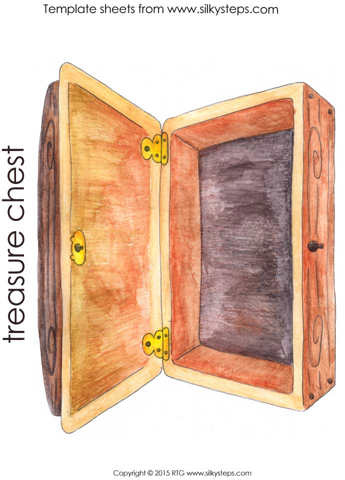 picture regarding Treasure Chest Template Printable known as Extensive color treasure upper body template