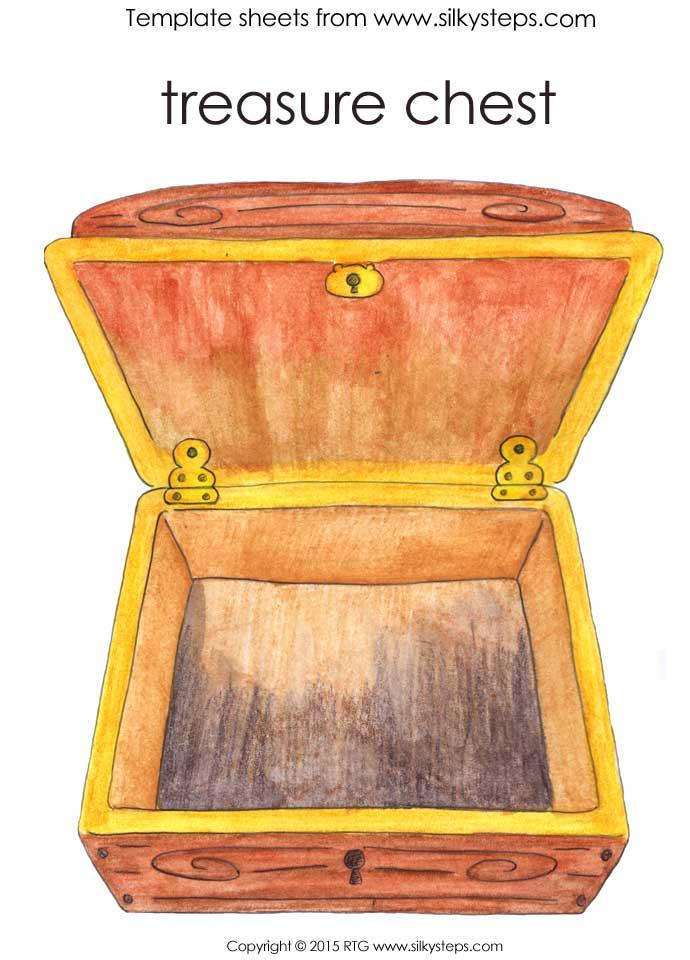 Colour treasure chest picture - tall portrait view