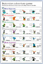 Skylanders characters names and pictures