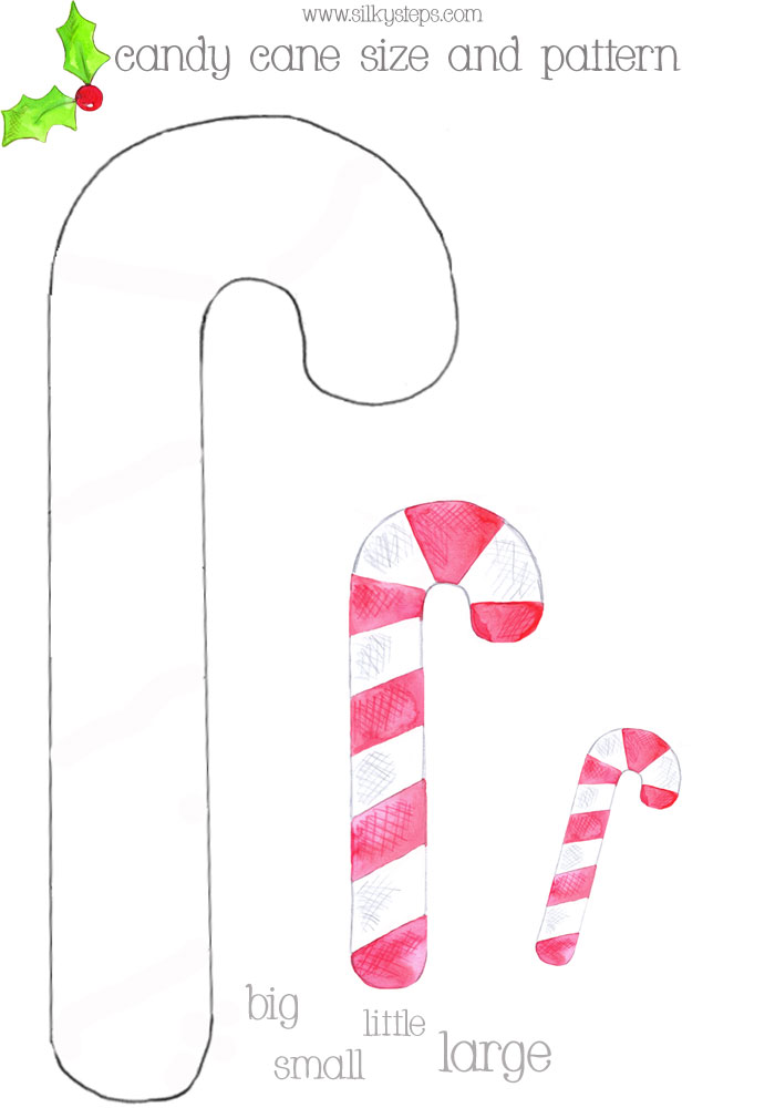 photo relating to Candy Cane Printable titled Sweet cane dimension and habit manufacturing playdough sport mat