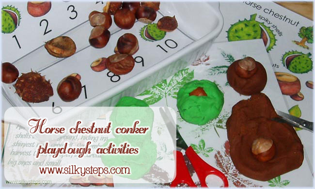 Conker playdough activities