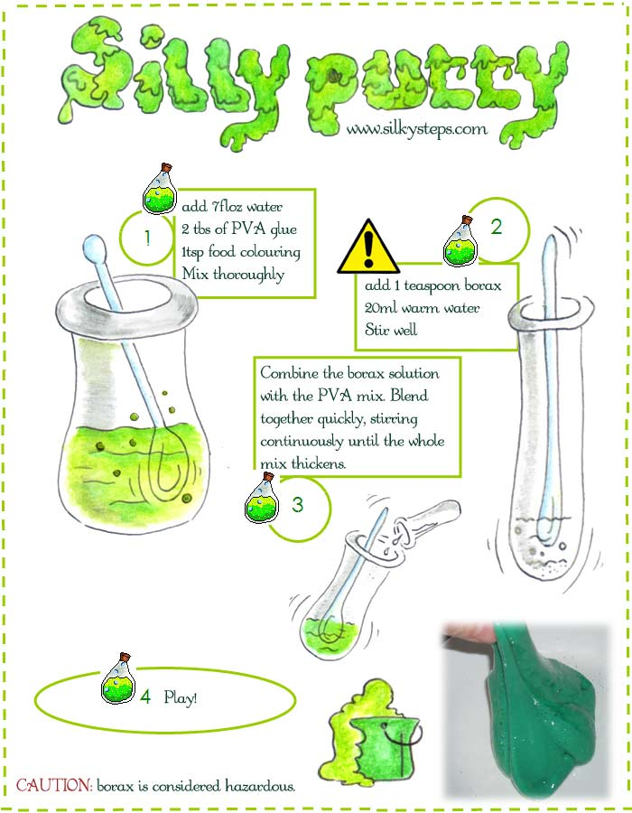 Silly putty slime recipe uses borax borax slime and silly putty recipe guide ccuart Images