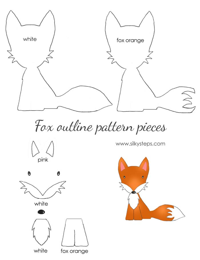 image relating to Fox Printable titled Fox behavior define drawing template - paper felt printable