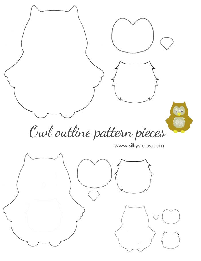 picture relating to Printable Owl Templates known as Owl determine habit template - drawing printable