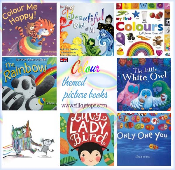 Colour themed picture books - preschool nursery story time