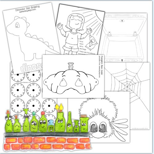 printables outline and colour sheets for childrens play - Colour Activity Sheets